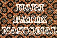 2 Oktober adalah hari batik nasional