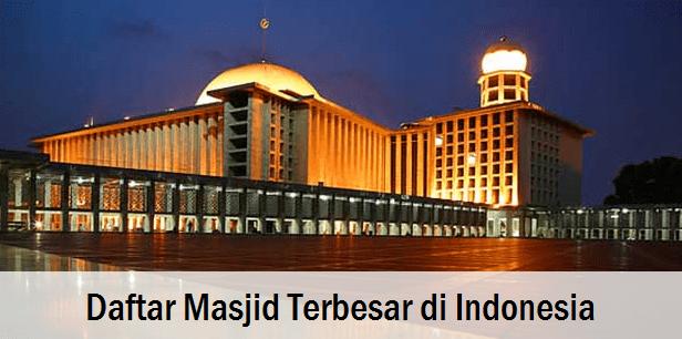 Daftar Masjid Terbesar di Indonesia