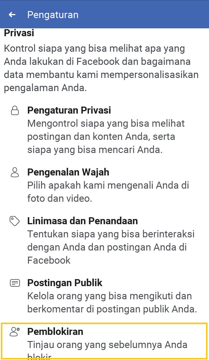 Membuka blokir fb di facebook lite